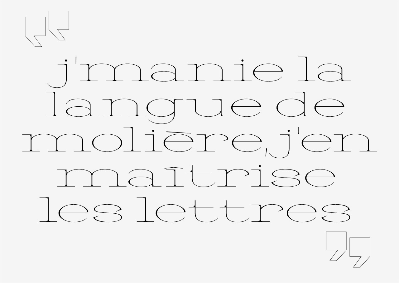 Font in progress - © Quentin Gaudry